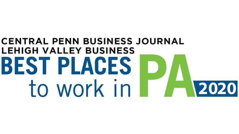 Central Penn Business Journal Best Places to work in PA 2020