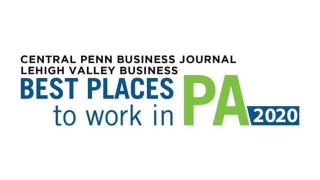 Central Penn Business Journal Lehigh Valley Business Best Places to Work in PA 2020 Winner